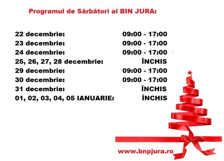 Program de sarbatori BIN JURA (2018)
